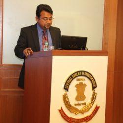Dr Misra speaking on sports corruption at the Central Bureau of Investigation headquarter, New Delhi