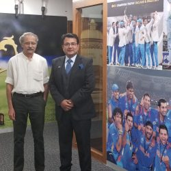 Meeting with Mr Ajit Singh, Head of Anti Corrutpion Unit, Board of Control for Cricket, India