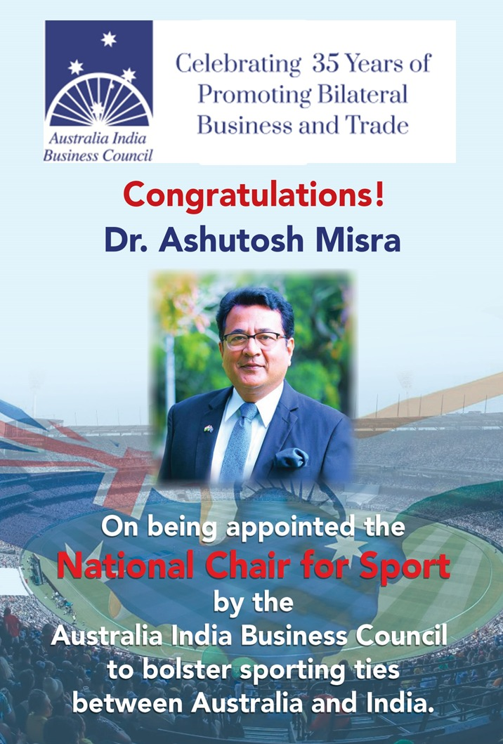 Dr Ashutosh Misra appointed AIBC National Chair for Sports