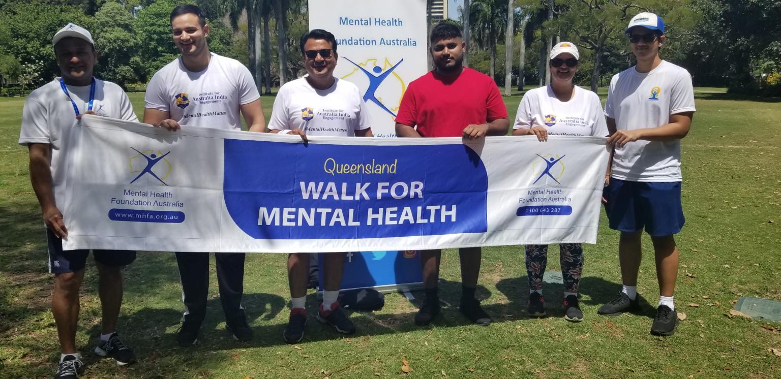 At the mental health walk