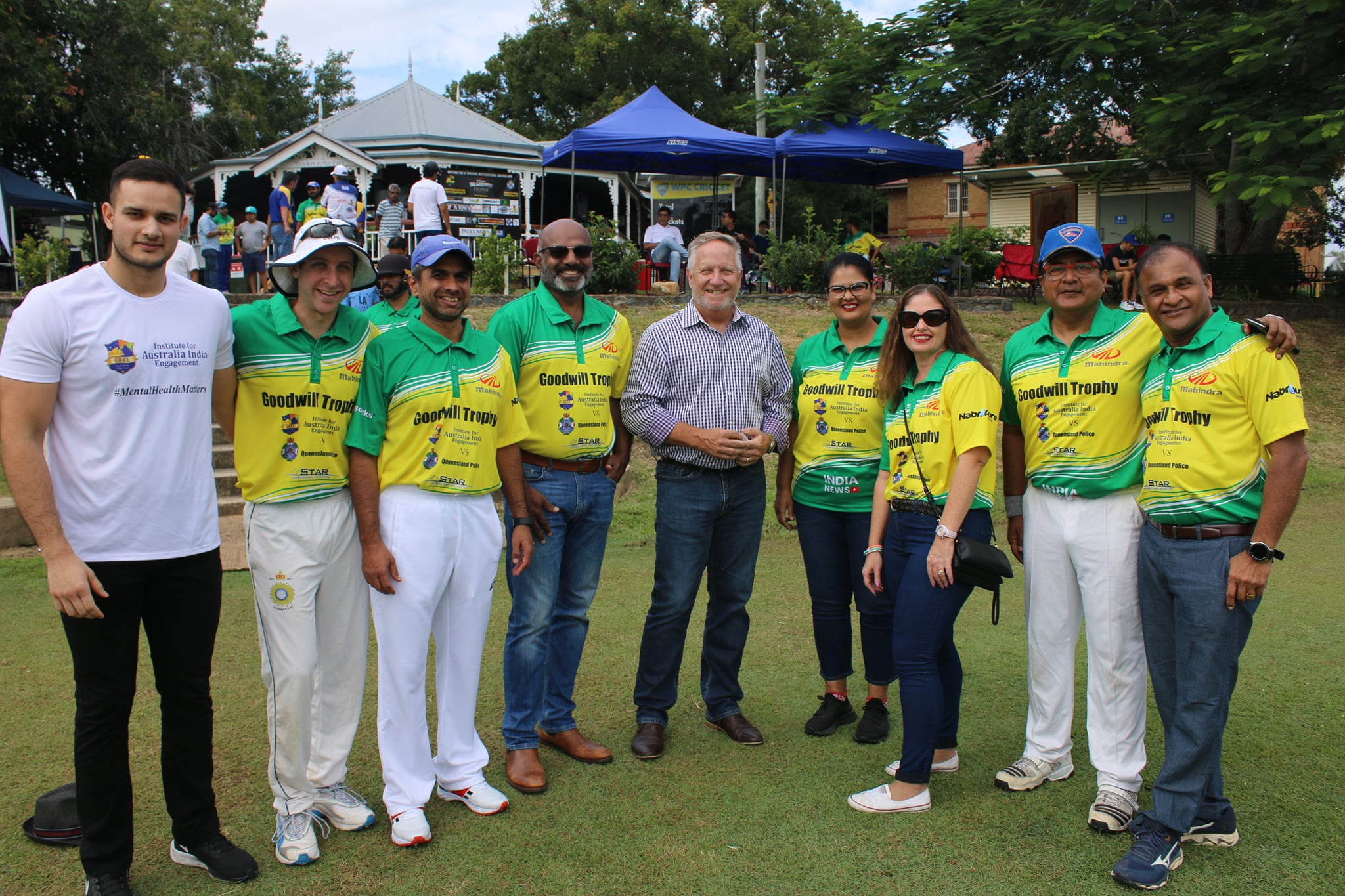 IAIE Board members at the Goodwill Cricket Cup with Mr Ian Healy