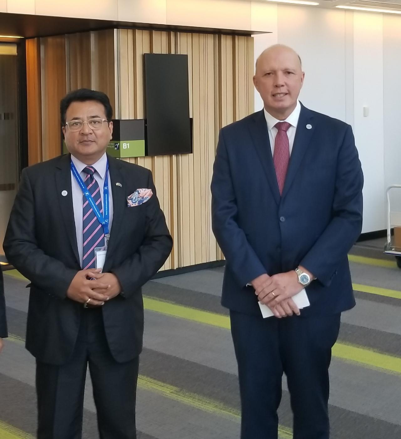 Interaction with Hon Peter dutton at a mental health symposium