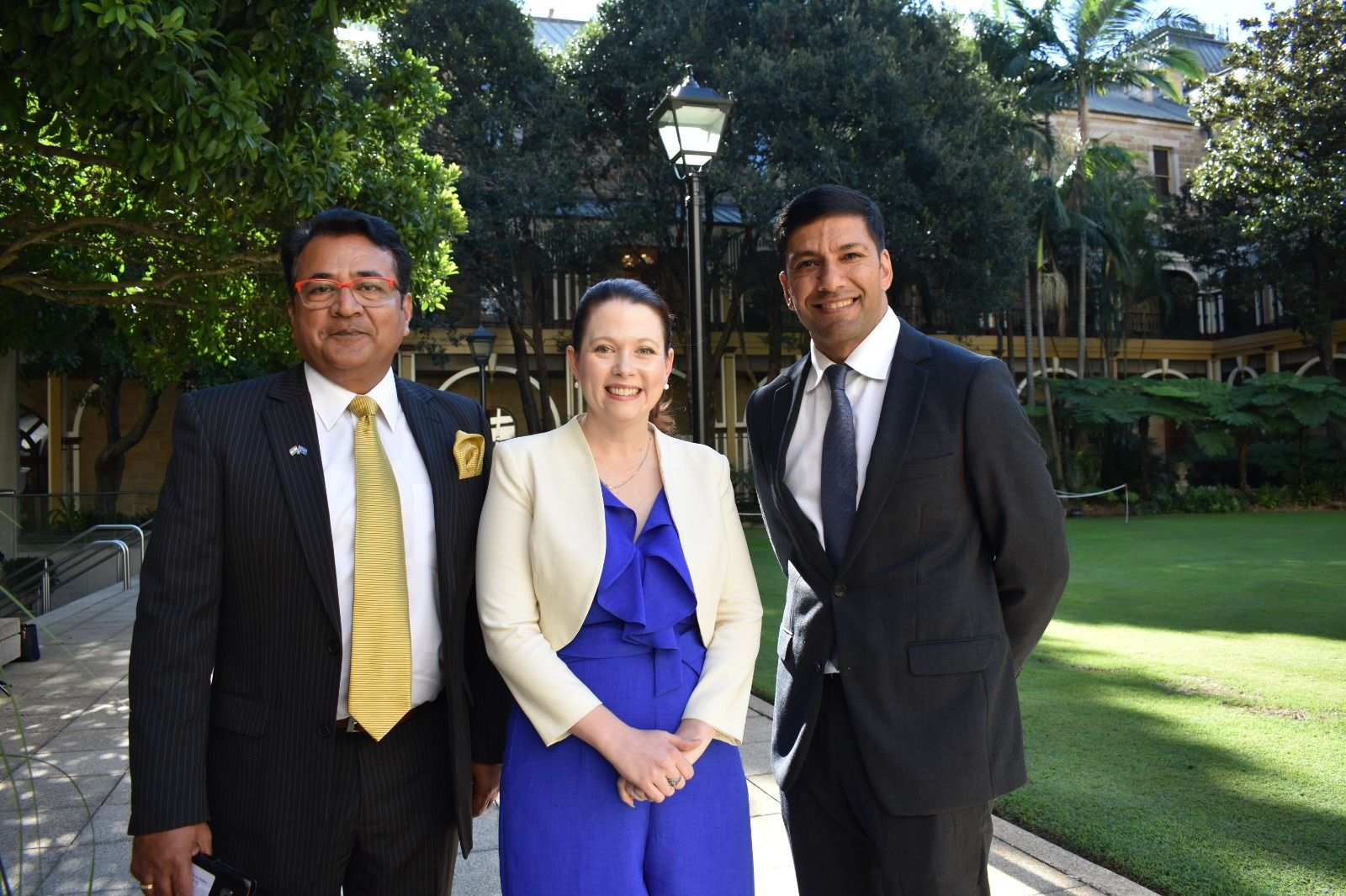 Meeting with Jessica Pugh MP and Assistant Minister Lance McCallum at the Queensland Parliament
